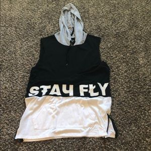Carbon Stay Fly Tank Hoodie.